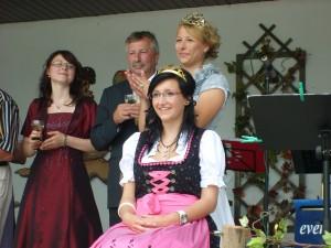 Krönung Steigraer Weinprinzessin Christin