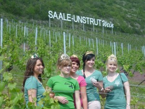 Weinmajestäten bei der Saale-Weinmeile 2012